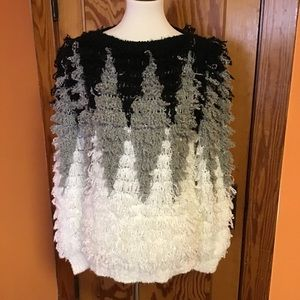 70s vintage fringed one of a kind fluffy sweater